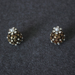 b81319b59 Ball Stud Earrings Diamonds Australia - women luxury design ball earring  copper diamond Natural pearl star