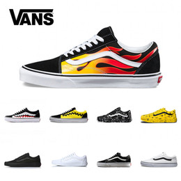 Vans Old Skool Men Women Casual Shoes Rock Flame Yacht Club Sharktooth  Peanuts Skateboard Mens Fashion Sport Running Sneaker Size 36-44 17fc5bd9f