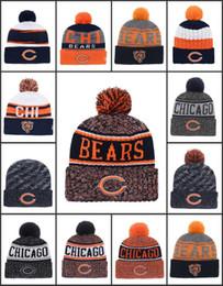 Venta al por mayor Chicago deporte invierno sombreros osos cosido equipo  logotipo de la marca caliente hombres mujeres calientes de la venta de punto  gorros ... b036d431e1b