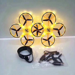 Ufo remote control online shopping - 1pc Drone Gravity Sensor Watch Remote Control drone Ufo Hands Free Gesture Drone infrared obstacle avoidance drones with light