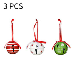 christmas bells window decorations UK - 3psc set Christmas Colorful Bell Hanging Ornaments Decoration New Year Party Home Xmas Tree Window Landscape Decoration