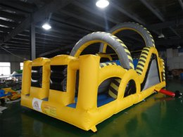 $enCountryForm.capitalKeyWord NZ - inflatable obstacle course game children outdoor PVC playground funny blow up sport for rental with powerful blower