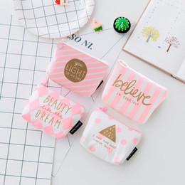 Cute Canvas Wallet Australia - Women Girls Cute Coin Purse Kawaii Print Snacks Canvas Coin Bag Lovely Wallet Zipper Bag Change Pouch Key Holder Monederos