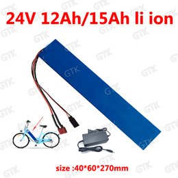 24v scooter charger NZ - 24v 12ah lithium battery 24v 15ah 18650 BMS 7s for 250w 480w ebike wheelchair scooter Lawn mower bicycle battery + 2A charger