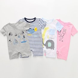 Baby Pullover NZ - Summer Casual Rompers 2019 Boys Clothes Pullover Baby Boy Summer Clothe Baby Rompers Fashion Girls European Style Baby Clothes