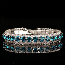 $enCountryForm.capitalKeyWord Australia - Luxury Wedding Austrian Crystal Bracelets For Women l Bracelets For Women Charm Green Purple White Diamond Bracelets Bangles Jewelry 0817ayq