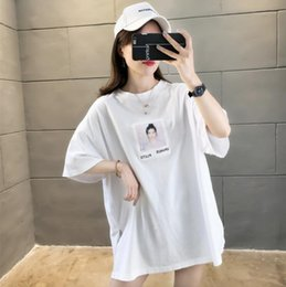 Wholesale high quality loose white t shirt online – design Spring and summer new net red short sleeve designer T shirt Fashion Top Women s loose large high quality women s wear