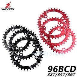 Bike Chain Wheel Australia - WUZEI BCD 96mm Round Oval Bicycle Chainring MTB Mountain Chain Wheel 32T 34T 36T For Shimano M7000 M8000 M9000 Crank