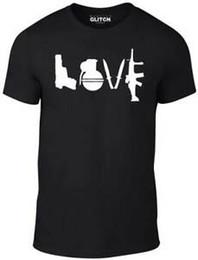$enCountryForm.capitalKeyWord Australia - Love T-Shirt - Funny t shirt weapons retro war urban art guns knife cool peace