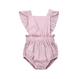 $enCountryForm.capitalKeyWord Australia - Brand Toddler Baby Girl Sleeveless Jumpsuit Princess Ruffle Solid Backless Bodysuit Summer New Baby Clothes Outfit Sunsuit