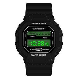 Men Digital Wrist Watches Australia - Smart Watches Men Digital Sport LED Silicone Band Smartwatch Date Calendar Waterproof Wrist Watch For Men 19APR25