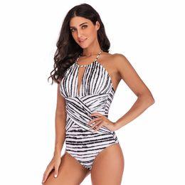 d95cb2b865559 New Fashion Womens Swimwear 2019 Plus Size Costume Padded Stripes Swimsuit  Monokini Push Up Bikini Sets 226