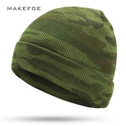 Chapeaux de camouflage tricotés pour hiver 2019 pour hommes Hiver Mme Warm New Gorros Touca Camouflage Tactical Outdoor Warm Green Army casquettes bone