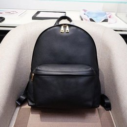 Real leatheR man bags online shopping - designer backpacks genuine leather backpack litchi pattern Medusa head luxury purse bags real leather man bags