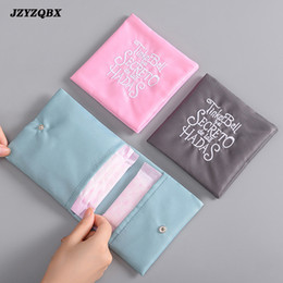 $enCountryForm.capitalKeyWord Australia - Embroidery Makeup Bag Travel Bag Waterproof Double-layer Cosmetic Portable Sanitary Napkin kosmetyczka