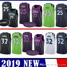 08c86d53b64 32 Karl-Anthony   Towns Basketball Jerseys CHEAP SALE 25 Derrick   Rose  Minnesota Jersey 2019 nEW Timberwolves retro MENS Youth Kid s