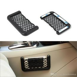 $enCountryForm.capitalKeyWord Australia - New Black Car Net Organizer Pockets Car Storage Net Automotive Bag Box Adhesive Visor Car Bag For Tools Mobile Phone wiht retail package