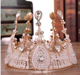 Gold Gift ribbon online shopping - Cake Queen Crown Full Circle Handmade Crown Princess Birthday Crown Gift