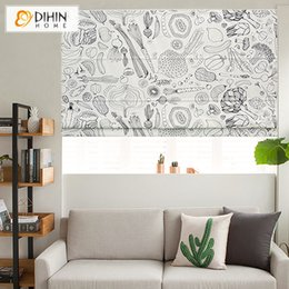 roman curtains Australia - Modern Abstract Painting Roman Blinds Customized Roman Shades Window Curtains For Living Room