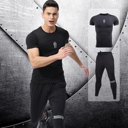 Body Fitness Suit Australia - Men's Sets tracksuit 3D Prints Tight Skin Compression Sport Suit Men MMA Rashguard Body Elastic Fitness T-shirt Fast Drying