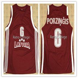 2018 New  6 Kristaps Porzingis Team Latvijas Basketball jersey Sewn Stitched  any name number and size XS-6XL vest Jerseys Ncaa 4c48e60d0