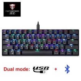 motospeed mechanical keyboard NZ - Cheap Keyboards MOTOSPEED CK61 Gaming Mechanical Keyboard RGB Keyboard with Blue Red Switch Speed All Anti-ghost Keys For PC Computer Gaming