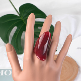 resin rings NZ - Classic Geometric Personality Resin Big Beautiful Rings for Women Fashion Jewelry Punk Large Rings for Girls Wholesale