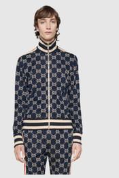 Zip sweatshirt jacket online shopping - 2019zv Designer fashion brand sportswear sweatshirt casual autumn zip jacket and pants Shipping GUCCI men jacket and pants
