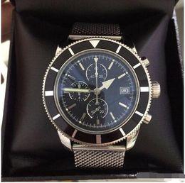 Опт Новые дизайнерские мужские часы Superoceanitage хронограф VK кварцевые мстители 46 мм мужские часы браслет из нержавеющей стали мужские роскошные наручные часы