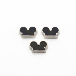 $enCountryForm.capitalKeyWord Australia - New novelty 20pcs lot black mouse head Alloy floating charms living glass memory floating lockets charms for DIY Accessory