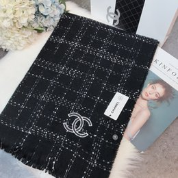 Wrap Toppings NZ - Winter 100% Top Pashmina Scarf shawl wrap Luxury Brand Designer for Men and Women Kashmir Cashmere Openwork Knit Scarf Free shipping