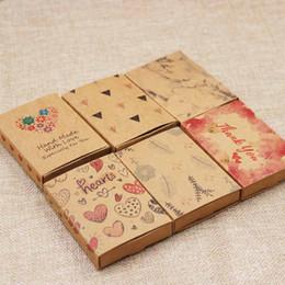 $enCountryForm.capitalKeyWord Australia - Dreamcatcher printed gift box Diy handmade love gift box heart pattern necklace charm pendant earring box 50pcs +50pc inner card