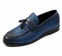$enCountryForm.capitalKeyWord NZ - 2019 New mens dress shoes Weaving loafers pointed wedding casual shoes tassel black shoes