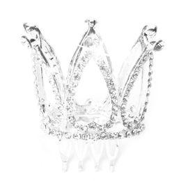 $enCountryForm.capitalKeyWord UK - Mini Women Girl Rhinestone Crown Bridal Tiara Hair Comb Pin For Wedding Party D19011103