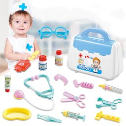 $enCountryForm.capitalKeyWord Australia - 1 Set Creative Doctor Medical Play Set Pretend Carry Case Medicine Box Children Education Role Playing Toys hot sale F5