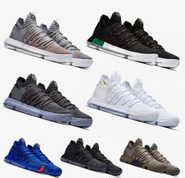 8f850ca2d4a2 Newest Zoom KD 10 Anniversary PE BHM Red Oreo triple black men basketball  shoes kd 10 Elite Low kevin durant Athletic Sport Sneakers