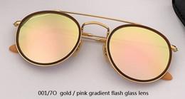 $enCountryForm.capitalKeyWord Australia - Wholesale-SteamPunk Vintage Round Metal Style double bridge Sunglasses Eyewear uv400 glass Lens flash Sun Glasses Oculos De Sol 3647 2780
