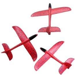 Toy Helicopter Wholesale Australia - Foam Throwing Glider Air Plane Inertia Aircraft Toy Hand Launch Airplane Model Outdoor Sports Flying Toy for Kids Gift