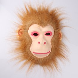 $enCountryForm.capitalKeyWord Australia - Cosplay Halloween Costume Realistic Fur Mane Latex Mask Creepy Animal Tiger Lion Monkey Wolf Partern Full Face