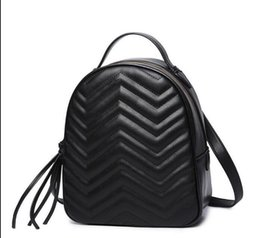 c4494456fc New women chain fashion casual Backpack style bag lady double shoulder  handbag PU Leather Brand Designer Cool Style