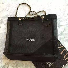Luxury Chains Australia - Fashion Ladies Transparent Mesh Chain Shoulder Bags Designer Brand Women Luxury Shopping Handbags Party Totes Bags 3A