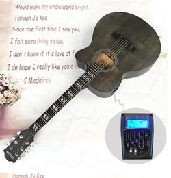 Acoustic Guitar Wood Spruce UK - 40 inch folk acoustic guitar electric box EQ guitar missing corner matte guitar spruce Nanyang wood free shipping