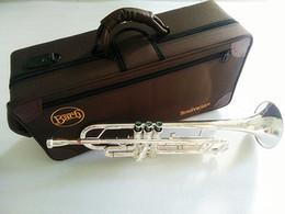 venda por atacado Prata banhado Bach Stradivarius Professional Bb trompete LT180S-43 prata banhado Instrumentos Musicales Profesionales Bocal