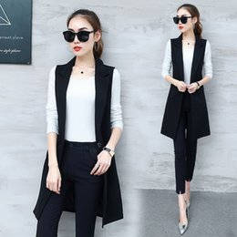 f24d0d13c8e Black korean ladies jacket online shopping - Office Lady Black Gray Casual  Long Vest Women Korean
