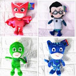 $enCountryForm.capitalKeyWord NZ - 20cm PJ Plush Dolls Stuffed Toys Masking Cartoon Hero Cat Boy Gekko Owlette Movie Stuffed Animals Best Gift For Children 4 LOTS
