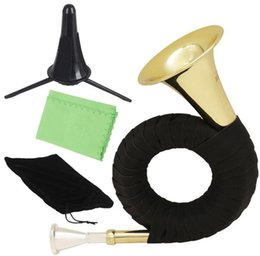 Reduce Bb to enlarge the hunting horn golden hunting horn brass tube and blow instrument 23*15*7.5cm on Sale