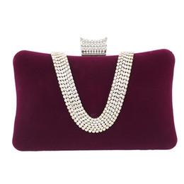 $enCountryForm.capitalKeyWord Australia - Purple Suede Clutch Women Fashion Hard-Surface Handbags Ladies Evening Bags For Women 2019 Chain Bags Style Box Clutches Purse