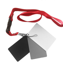 3 In 1 White Black 18% Gray Color Balance Cards Digital Grey Card With Neck Strap For DSLR Camera P0.3 8.5 X 5.5cm on Sale