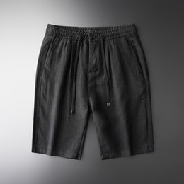 $enCountryForm.capitalKeyWord NZ - Minglu Mens Shorts Plus Size 4xl Luxury 100% Linen Summer Thin Short Trousers Men Fashion Drawstring Slim Casual Men Short Pants