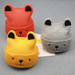 $enCountryForm.capitalKeyWord Australia - Baby Hat Winter Autumn Infant Toddler Kids Girls Boys Cute Knitted Little Ear Cap Warm Hat Bonnet Beanie Turban